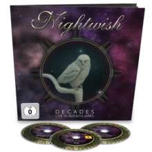 Nightwish: Decades: Live In Buenos Aires (Limited Earbook), 2 CDs und 1 Blu-ray Disc
