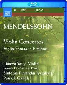Felix Mendelssohn Bartholdy (1809-1847): Violinkonzert op.64, Blu-ray Audio