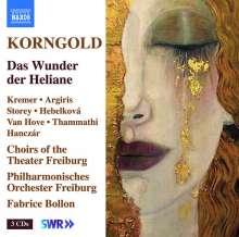 Erich Wolfgang Korngold (1897-1957): Das Wunder der Heliane, 3 CDs