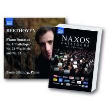 Ludwig van Beethoven (1770-1827): Klaviersonaten Nr. 8, 21, 31 (mit Naxos Gesamtkatalog 2019), CD
