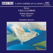 Heitor Villa-Lobos (1887-1959): Streichquartette Nr.2 & 7, CD