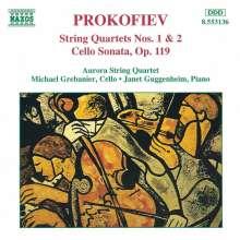 Serge Prokofieff (1891-1953): Streichquartette Nr.1 & 2, CD