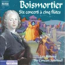 Joseph Bodin de Boismortier (1689-1755): Konzerte für 5 Flöten op.15 Nr.1-6, CD