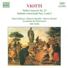 Giovanni Battista Viotti (1755-1824): Sinfoniae concertante Nr.1 & 2, CD
