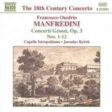 Francesco Onofrio Manfredini (1684-1762): Concerti op.3 Nr.1-12, CD
