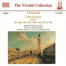Antonio Vivaldi (1678-1741): Cellokonzerte Vol.3, CD