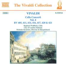 Antonio Vivaldi (1678-1741): Cellokonzerte Vol.4, CD