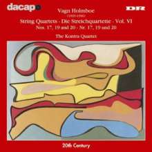 Vagn Holmboe (1909-1996): Streichquartette Nr.17,19,20, CD