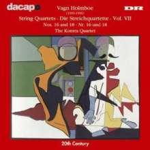 Vagn Holmboe (1909-1996): Streichquartette Nr.16 & 18, CD