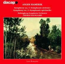 Asger Hamerik (1843-1923): Symphonien Nr.5 & 6, CD