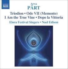 Arvo Pärt (geb. 1935): Triodion, CD
