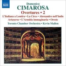 Domenico Cimarosa (1749-1801): Ouvertüren Vol.2, CD