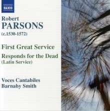 Robert Parsons (1530-1572): First Great Service, CD