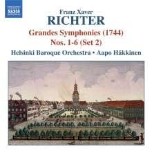 Franz Xaver Richter (1709-1789): Grandes Symphonies VII-XII (1744) Set 2, CD