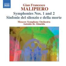 Gian Francesco Malipiero (1882-1974): Symphonien Nr.1 & 2, CD