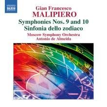 Gian Francesco Malipiero (1882-1974): Symphonie Nr.9 & 10, CD
