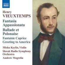Henri Vieuxtemps (1820-1881): Fantasie op.35 für Violine & Orchester, CD