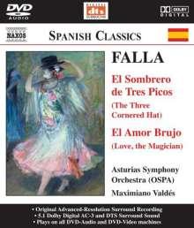 Manuel de Falla (1876-1946): Der Dreispitz (Ges.-Aufn.), DVD-Audio