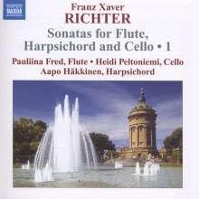 Franz Xaver Richter (1709-1789): Sonaten für Flöte,Cembalo & Cello Vol.1, CD