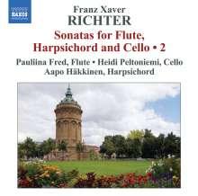 Franz Xaver Richter (1709-1789): Sonaten für Flöte,Cembalo & Cello Vol.2, CD