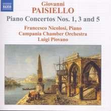 Giovanni Paisiello (1740-1816): Klavierkonzerte Nr.1,3,5, CD