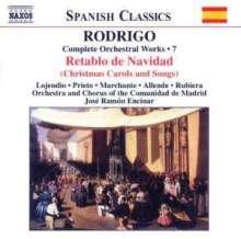 Joaquin Rodrigo (1901-1999): Orchesterwerke Vol.7, CD