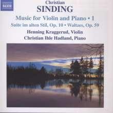 Christian Sinding (1856-1941): Werke für Violine & Klavier Vol.1, CD