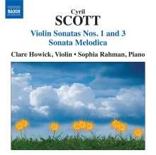 Cyril Scott (1879-1970): Sonaten für Violine & Klavier Nr.1 & 3, CD