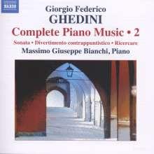 Giorgio Federico Ghedini (1892-1965): Sämtliche Klavierwerke Vol.2, CD