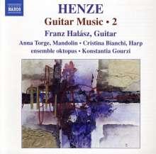 """Hans Werner Henze (1926-2012): Kammermusik mit Gitarre """"Guitar Music"""" Vol.2, CD"""