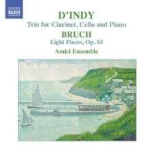 Max Bruch (1838-1920): Stücke für Klarinette,Viola,Klavier op.83 Nr.1-8, CD
