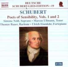 """Franz Schubert (1797-1828): Lieder """"Dichter der Empfindsamkeit"""" Vol.1 & 2, 2 CDs"""