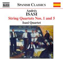 Andres Isasi (1890-1940): Streichquartette Nr.1 & 5, CD
