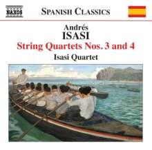 Andres Isasi (1890-1940): Streichquartette Nr.3 & 4, CD