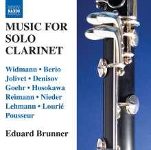 Eduard Brunner - Music For Solo Clarinet, CD