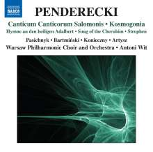 Krzysztof Penderecki (1933-2020): Canticum Canticorum Salomonis, CD