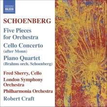 Arnold Schönberg (1874-1951): Stücke für Orchester op.16 Nr.1-5, CD