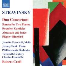 Igor Strawinsky (1882-1971): Duo Concertant für Violine & Klavier, CD