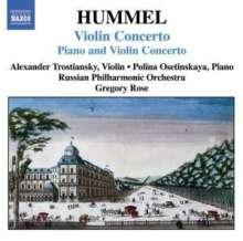 Johann Nepomuk Hummel (1778-1837): Konzert für Klavier,Violine & Orchester op.17, CD