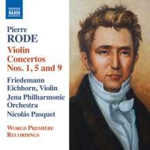 Pierre Rode (1774-1830): Violinkonzerte Nr.1, 5, 9, CD