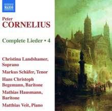 Peter Cornelius (1824-1874): Sämtliche Lieder Vol.4, CD