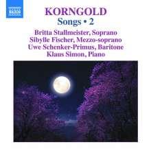 Erich Wolfgang Korngold (1897-1957): Lieder Vol.2, CD