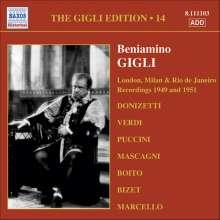 Benjamino Gigli- Edition Vol.14, CD