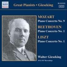 Walter Gieseking spielt Klavierkonzerte, CD