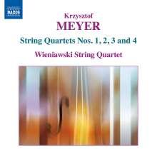 Krzysztof Meyer (geb. 1943): Streichquartette Nr.1-4, CD