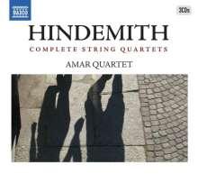 Paul Hindemith (1895-1963): Streichquartette Nr.1-7, 3 CDs