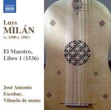 """Luys Milan (1500-1561): Musik fur Vihuela """"El Maestro, Libro 1"""", CD"""
