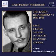 Arturo Benedetti Michelangeli - The Early Recordings Vol.1, CD