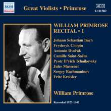 William Primrose - Recital Vol.1, CD