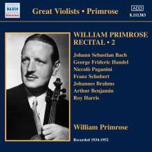 William Primrose - Recital Vol.2, CD